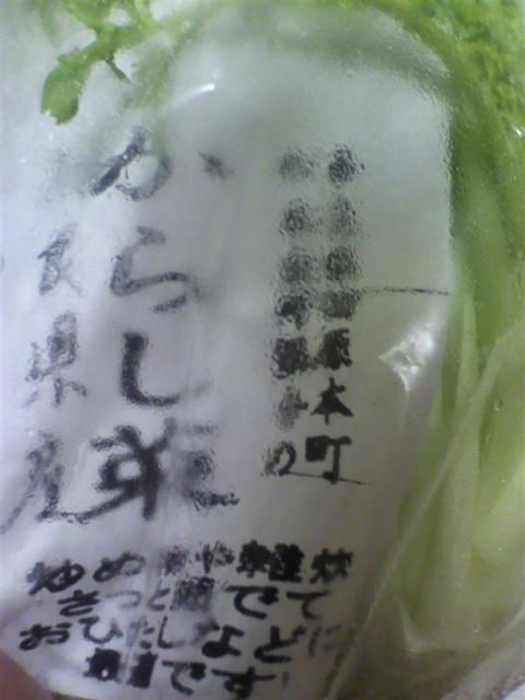 奈良県産からし菜