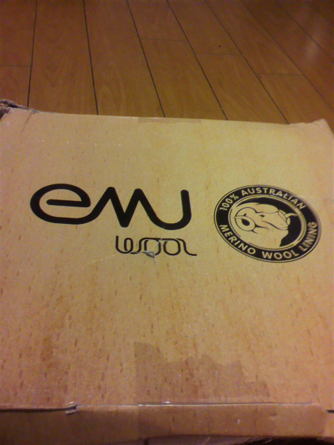 今が安いので冬用ムートンブーツ <br />  emu 購入