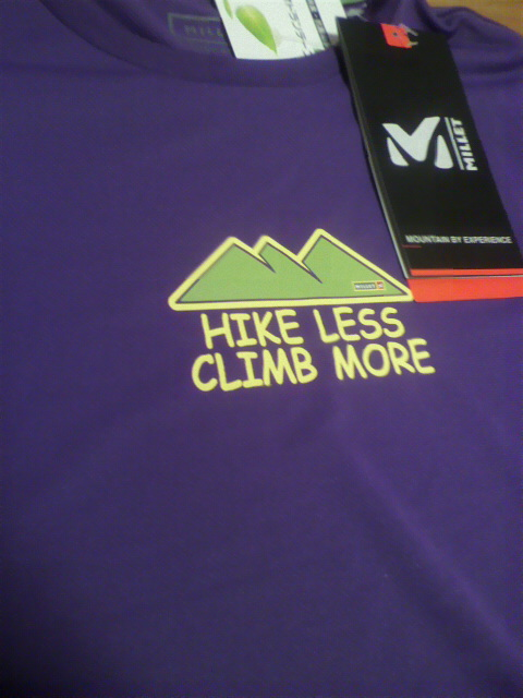 ミレー速乾ティシャツ買ったぜ!