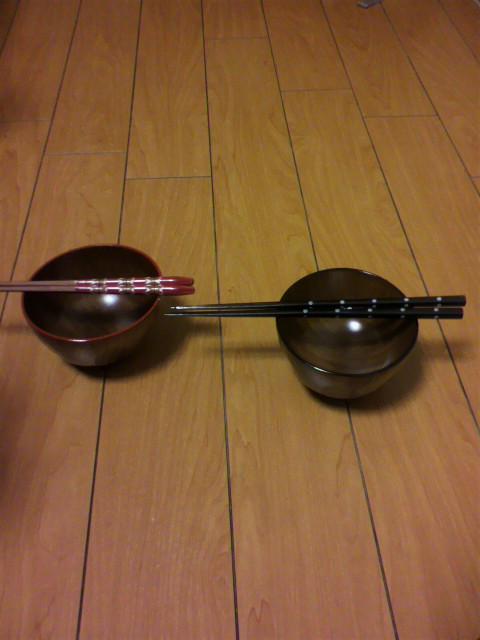 汁椀とお箸買っちゃった