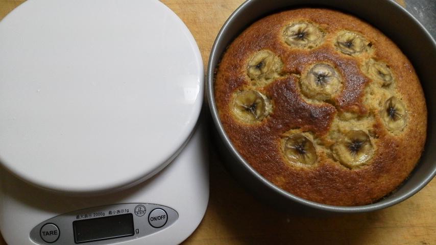 バナナケーキ作りました!